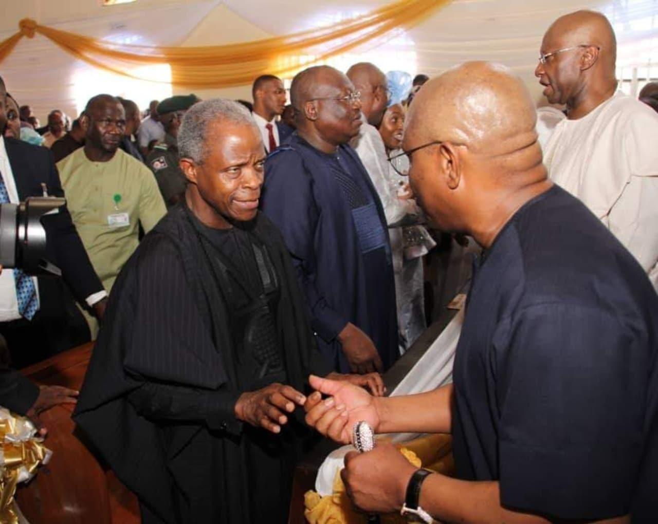 Gov Wike, Oshiomhole, Osinbajo, Lawan, other top APC, PDP leaders meet [PHOTOS]