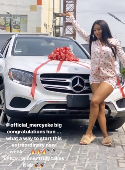 Mercy Eke buys herself a brand new Mercedes Benz after AMVCA win