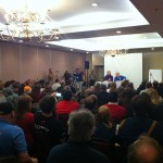A packed house for Peter Davison at MystiCon 2013. The hotel filled to capacity that weekend.