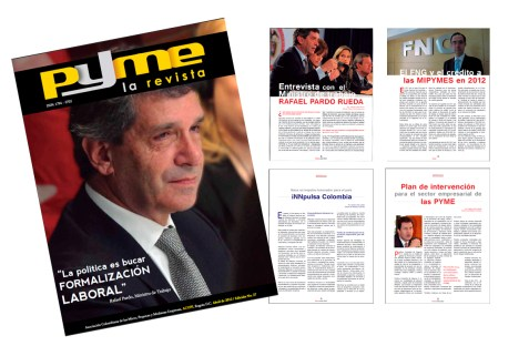 "Client: Acopi Nacional - Work: Redesigning the magazine ""Pyme"" - Company: Pisón MyP"