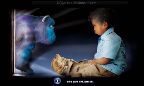Grade: Graphic production - Campaign: Just for braver - Reference: Monster Inc.