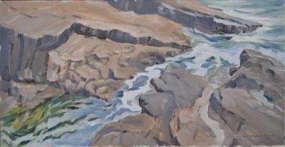Rocks by the Sea Pool Bude by Lawrence Dyer