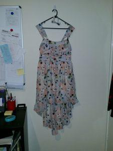 Spotted Dress on hanger