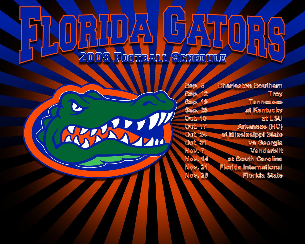 2009 gator football schedule florida gators wallpaper - Florida gators background ...