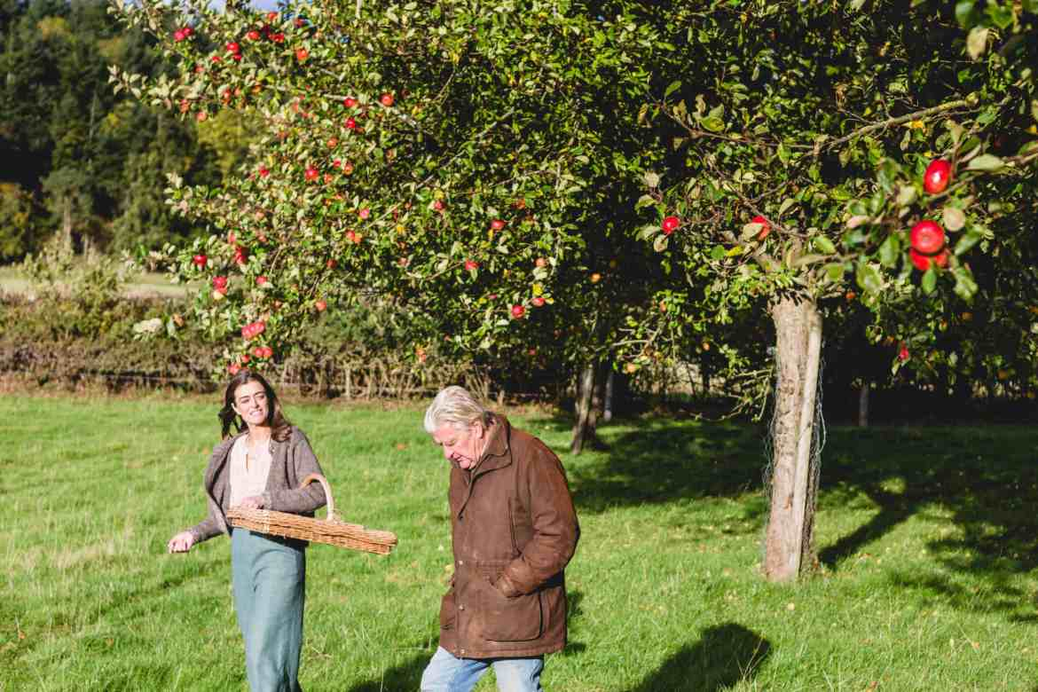 Founder Gemma picking fruits from Gattertop Orchard