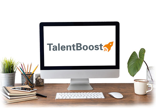 TalentBoost on computer screen