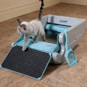 Arenero automatico para gatos
