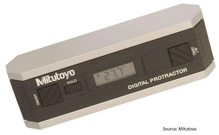 Digital protractor mitutoyo