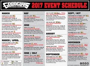 Goodguys 2017 event schedule