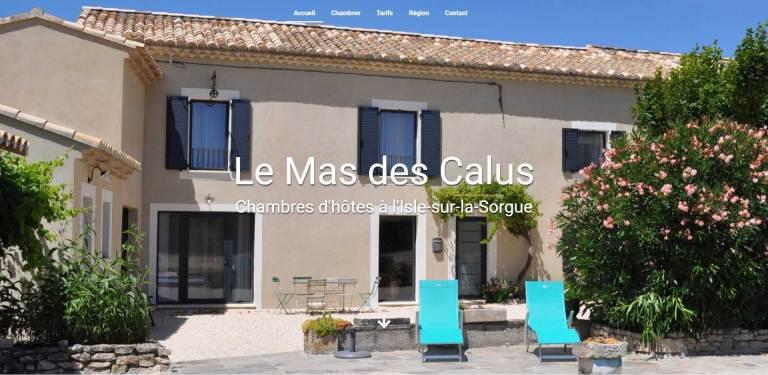 site web le mas des calus réalisé par gault-web.fr