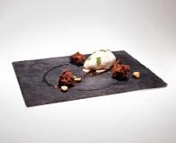 birch icecream, olive chocolate biskuit & hazelnuts