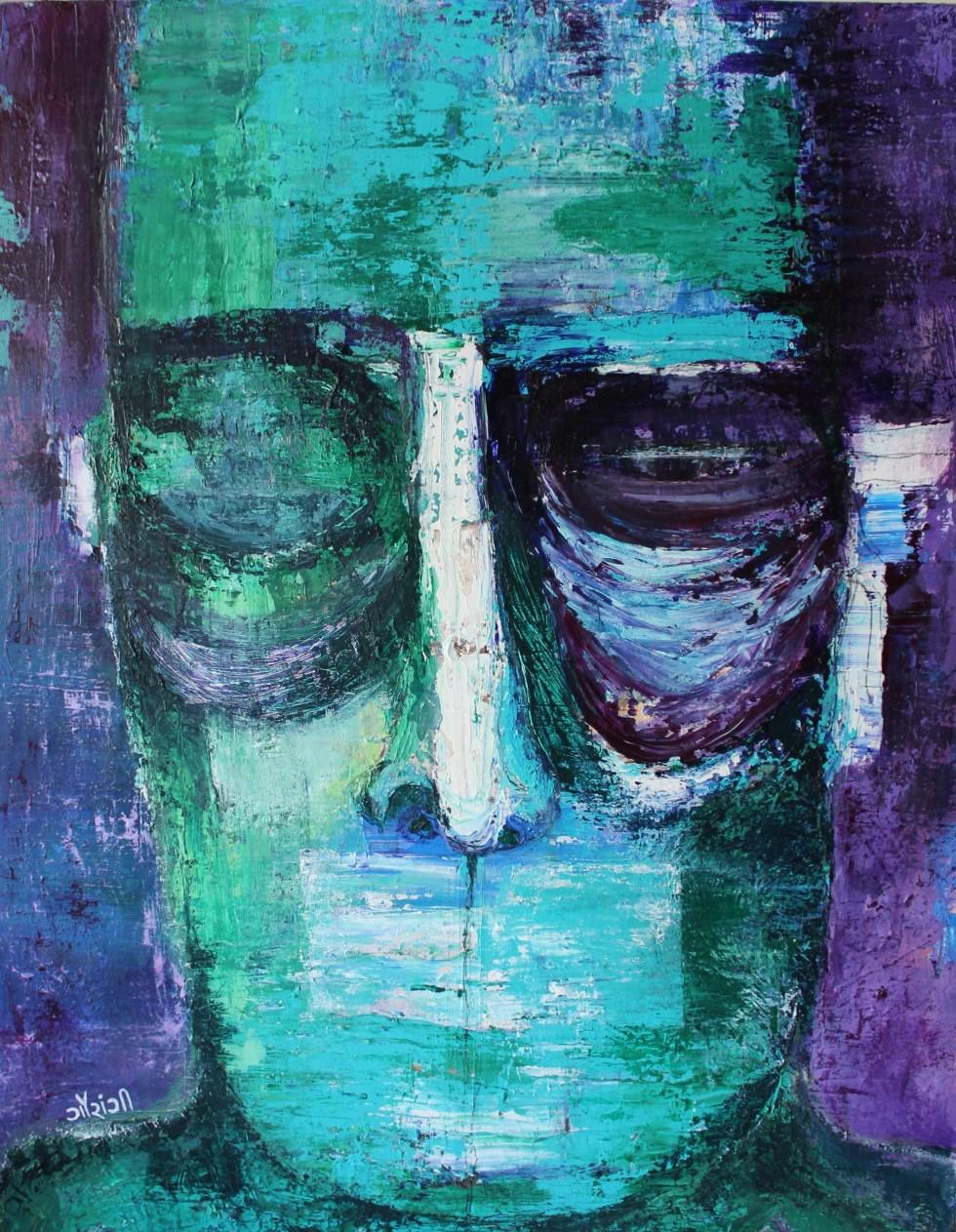 Title: Ambiguity Medium: Acrylic on canvas Size: 24*22 inches (2019) Artist: gaurangi mehta shah
