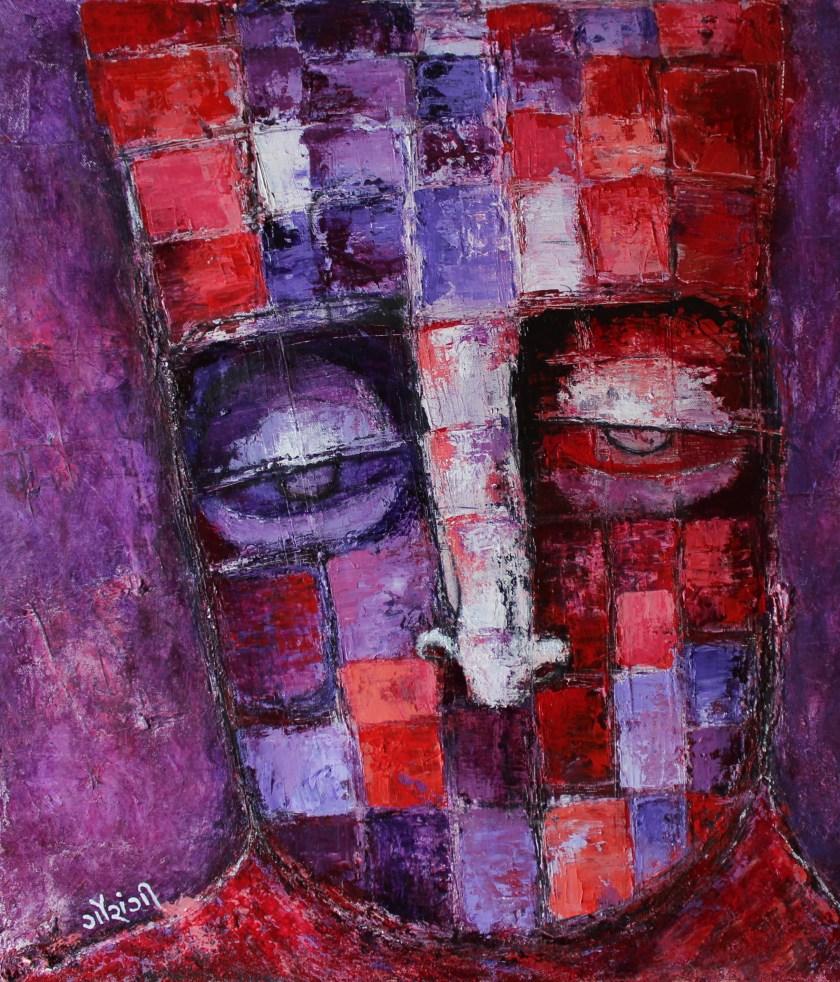 Title: Temporarily harvesting a block Medium: Acrylic on canvas Size: 21*24 inches (2019) Artist: gaurangi mehta shah
