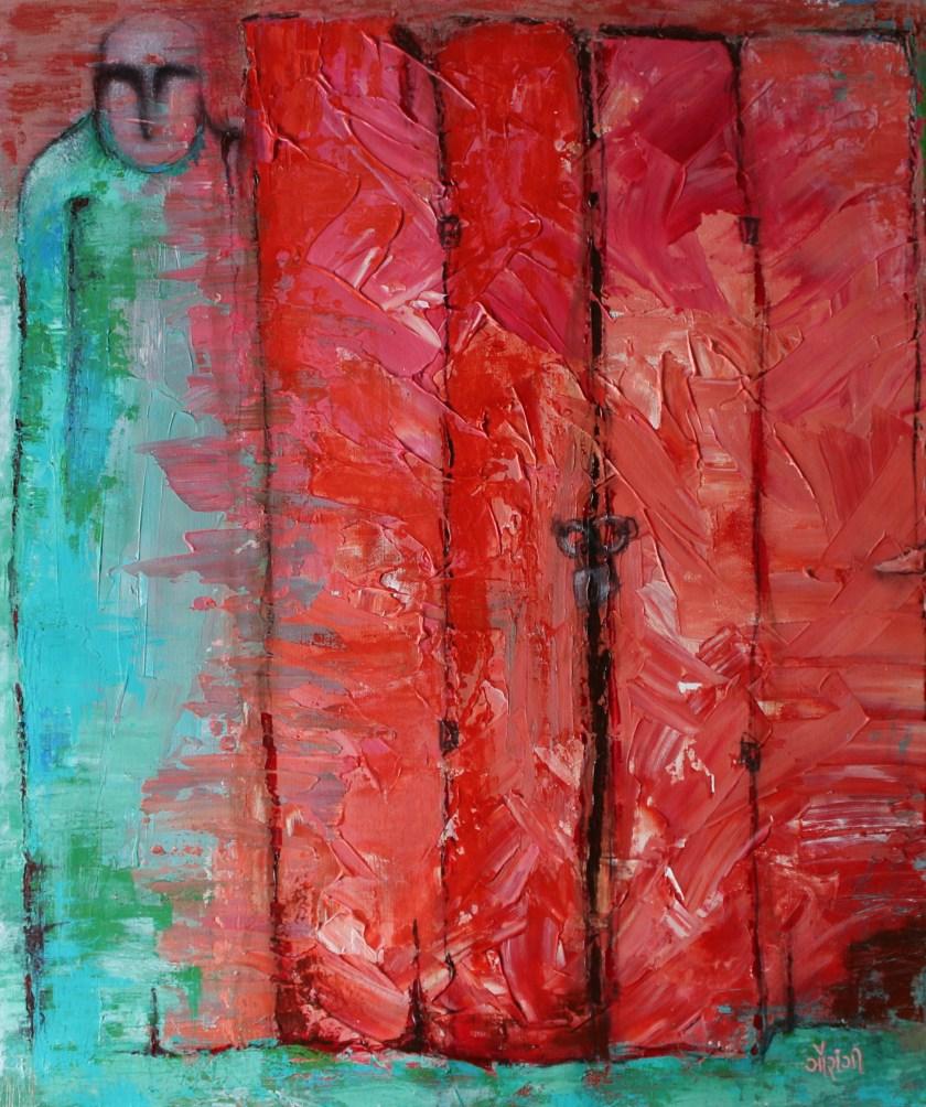 Title: Temporarily in isolation  Medium: Acrylic on canvas Size: 28*32 inches (2019) Artist: gaurangi mehta shah