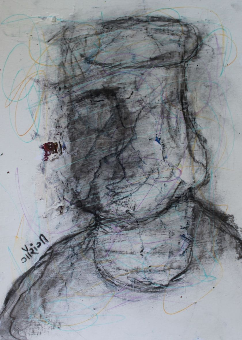 Title: Spaghetti Mind. Medium: Mixed media on watercolour paper. Size: 8.27*11.7 inches (2020) Artist: gaurangi mehta shah