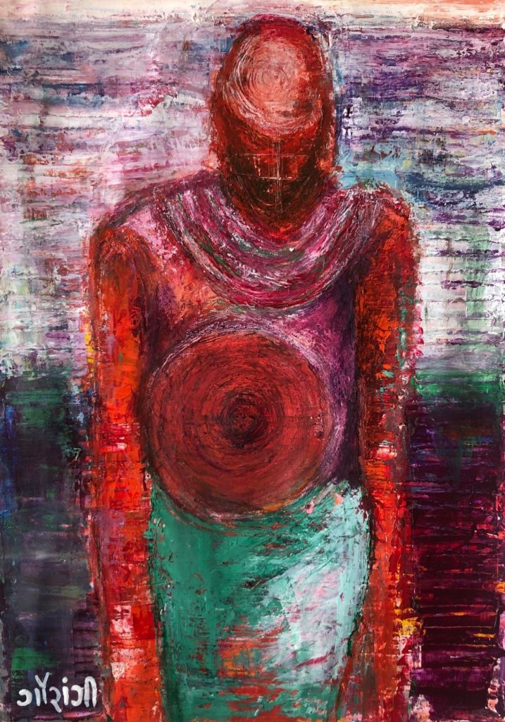 Title: emptiness, acrylic on paper, 11.5 *16.5 inches (2020). Artist: gaurangi mehta shah