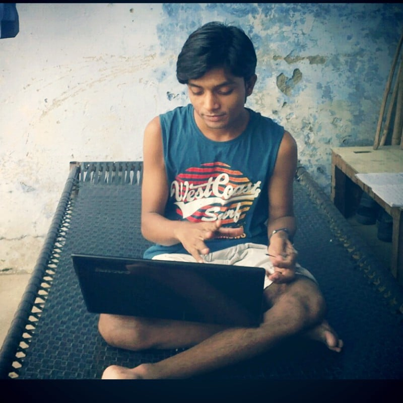 Me relaxing with Laptop