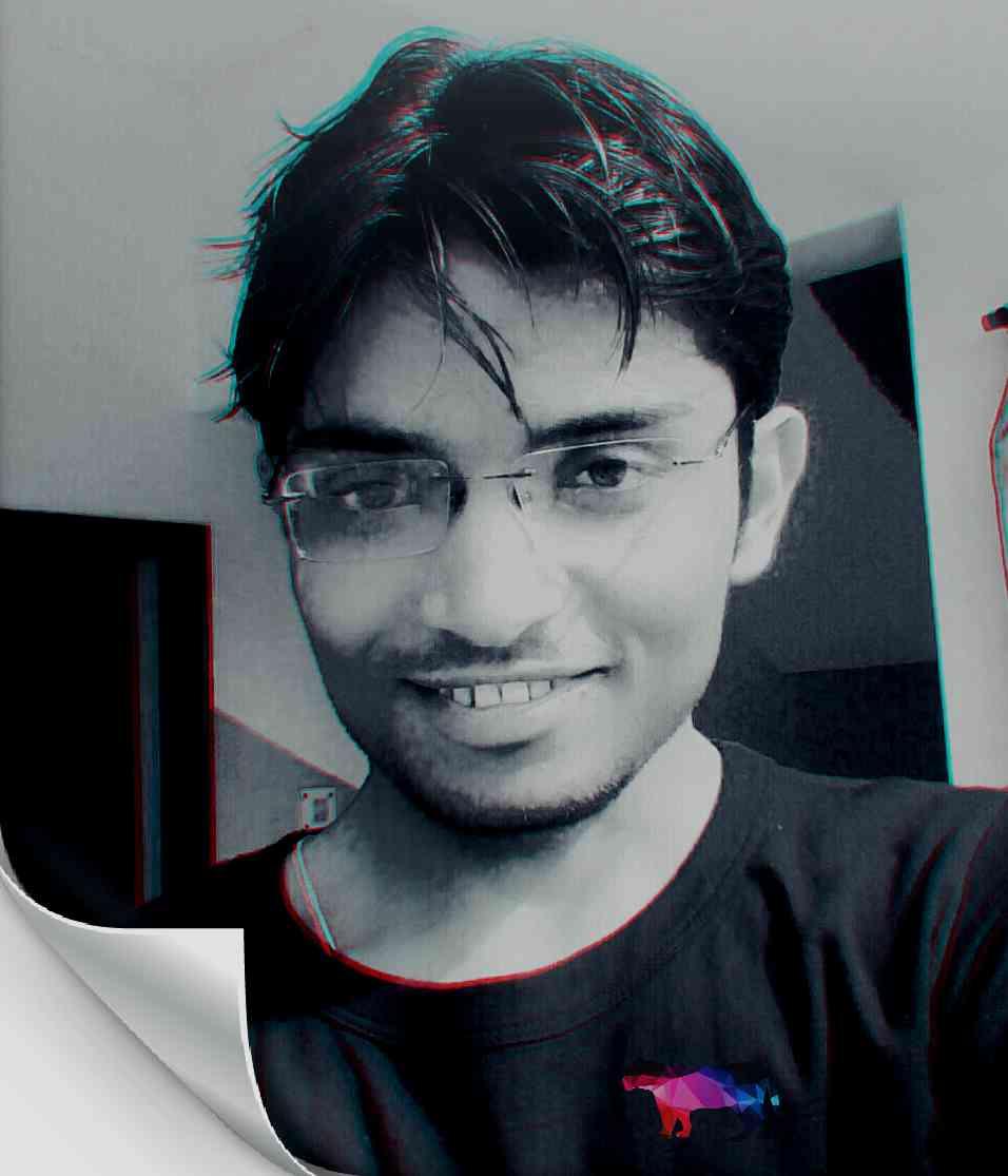 gaurav in light specs dark