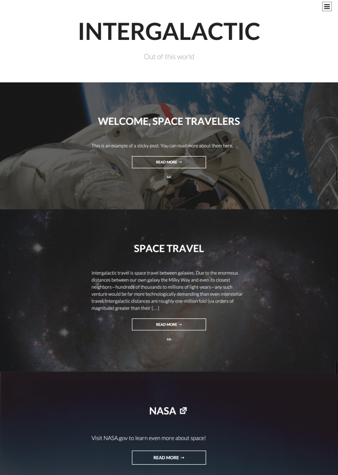 intergalactic wordpress theme