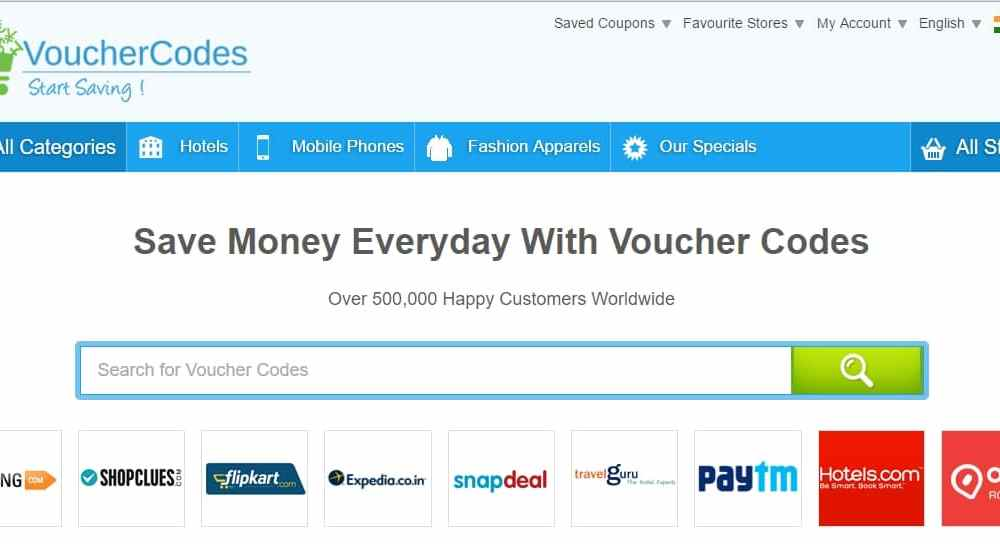 voucher codes the best homepage concept