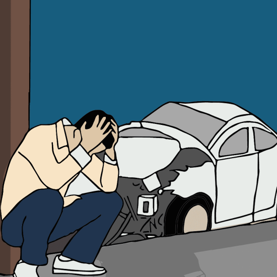 car accident, speed, shocked