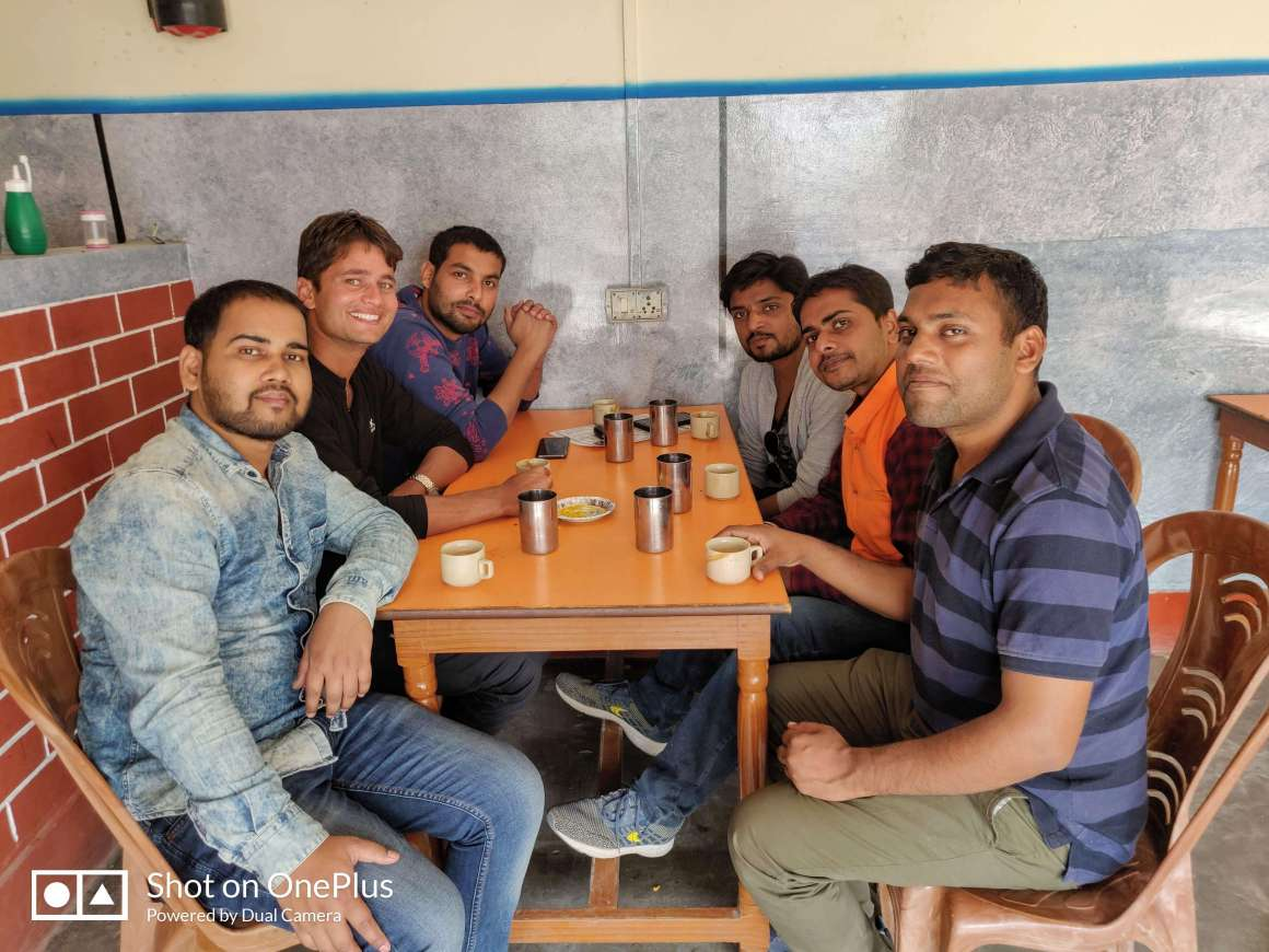 Gaurav Tiwari with friends