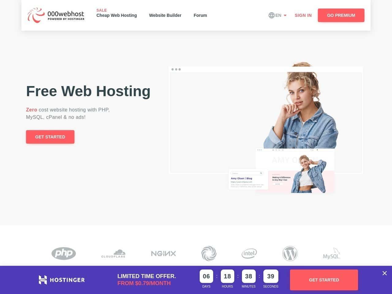 000webhost homepage