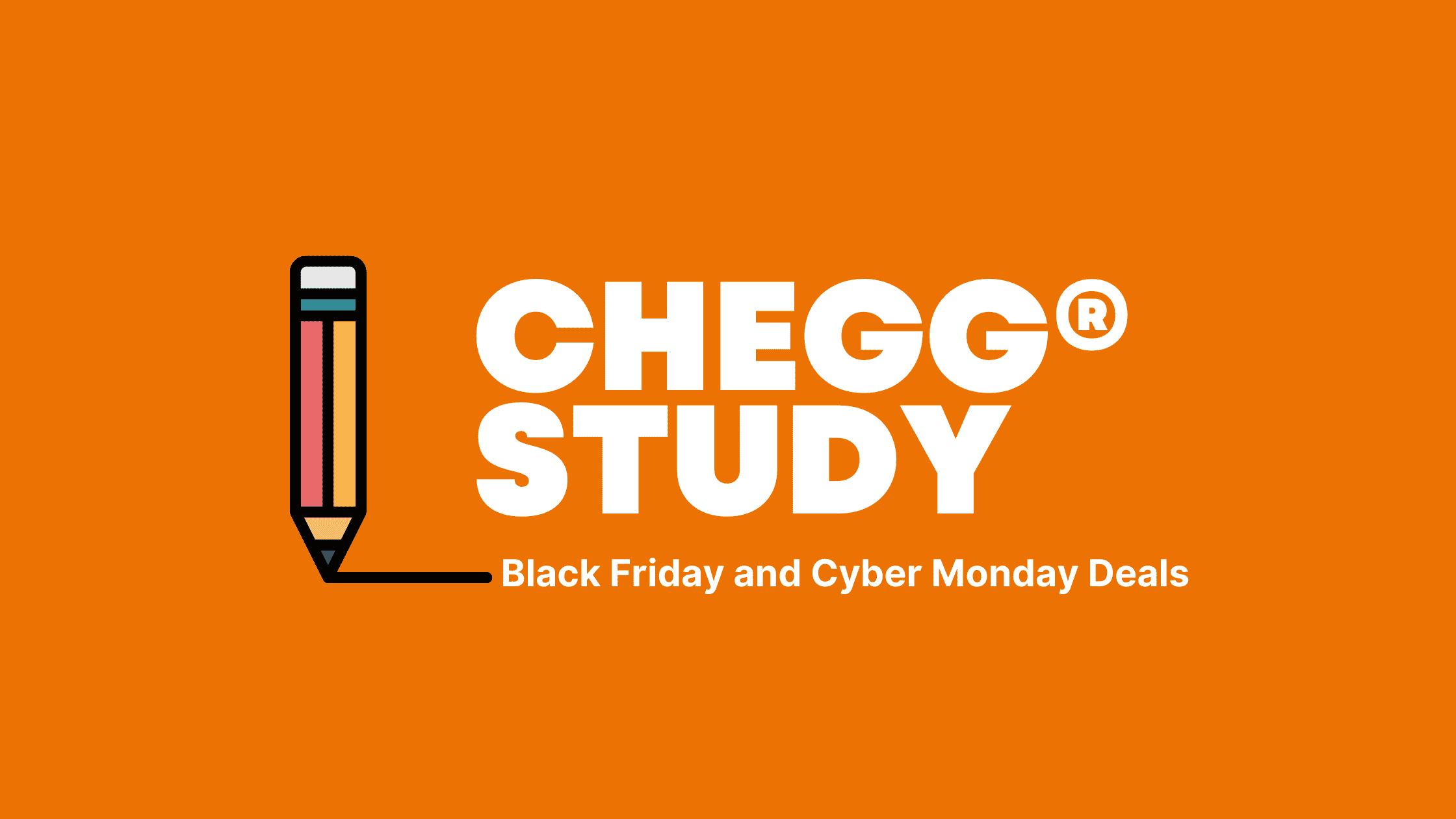 Chegg Study Black Friday deals in 2020