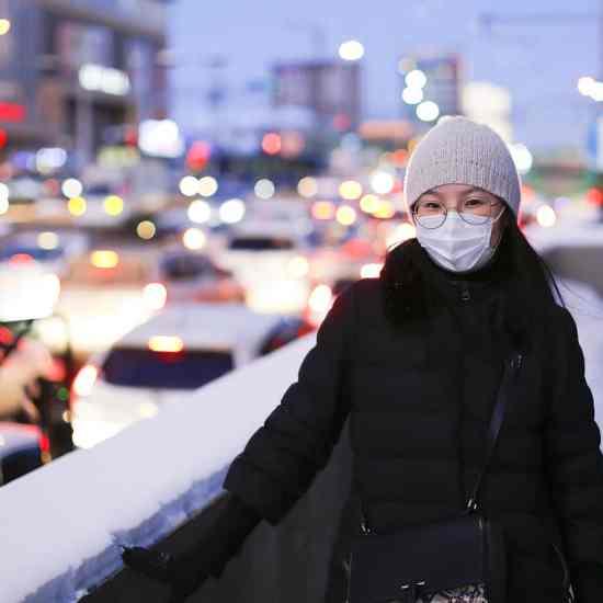 woman, asian, mask
