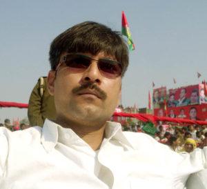 रैली स्थल पर मौजूद बी.पी. गौतम