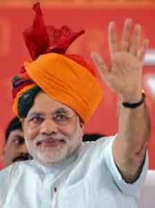 भाजपा के प्रधानमंत्री पद के उम्मीदवार और गुजरात के मुख्यमंत्री नरेंद्र मोदी