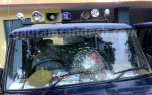 सीओ सिटी की क्षतिग्रस्त गाड़ी।
