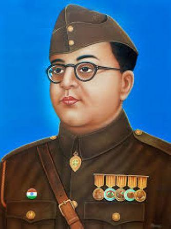 क्रांतिकारियों के आदर्श व भारत की अंतरिम सरकार के राष्ट्रपति, प्रधानमंत्री व युद्धमंत्री सुभाष चंद्र बोस।