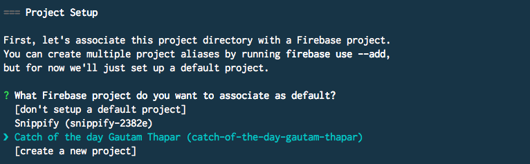 Firebase project setup