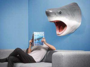 great-white-shark-veggdekorasjon