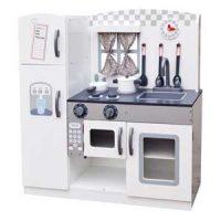 Minikjøkken i tre, Hvit Image