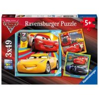 Puslespill, Disney Cars 3, 3x49 brikker Image