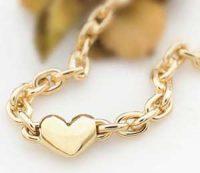 Smykke - Gullarmbånd med hjerte Image