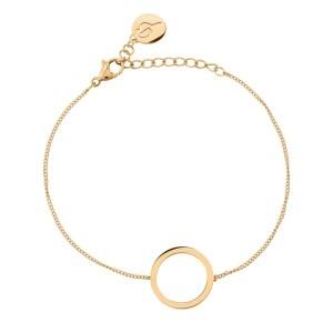 Gullarmbånd med sirkel Image