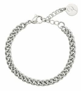 Trendy sølvfarget lenkearmbånd fra Edblad Image