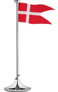 Bordflag, Georg Jensen flagstang, flag, dåbsgave fra gudmor, dåbsgave fra fadder, dåbsgave fra fader, barnedåbsgave, barnedåbs gave