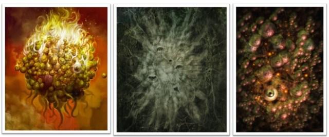 Cthugha, Azathoth e Yog-Sothoth Nyarlathotep Lovecraft Mitos de Cthulhu Horror Cósmico mitologia lovecraftiana grandes antigos weird tales livro dos mortos clark ashton smith deuses Dagon Hastur Itaqua, Yig, Shub-Nigurath e Chaugnar Faugn.