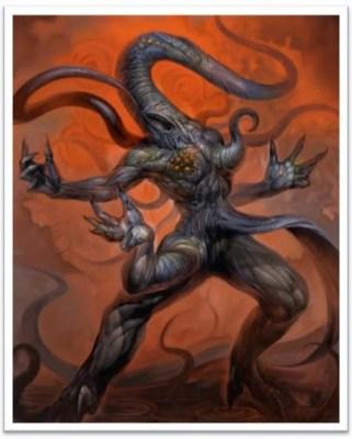 Nyarlathotep Lovecraft Mitos de Cthulhu Horror Cósmico mitologia lovecraftiana grandes antigos weird tales livro dos mortos clark ashton smith deuses Dagon Hastur Itaqua, Yig, Shub-Nigurath e Chaugnar Faugn.