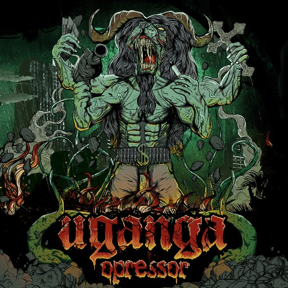 "Capa do álbum ""Opressor"" (2014)"