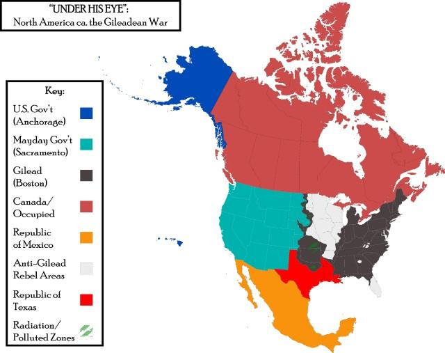 Gilead mapa - Gilead Map The Handmaid's Tale O Conto da Aia