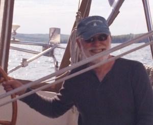 Carl Berdie at the helm