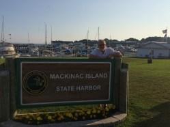 July 9 Dan at Mackinaw Island