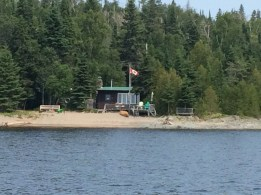 August 15 Little cabin along the Michipicoten River as we head into Wawa