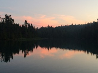 September 1 Sunset in Loon Harbour