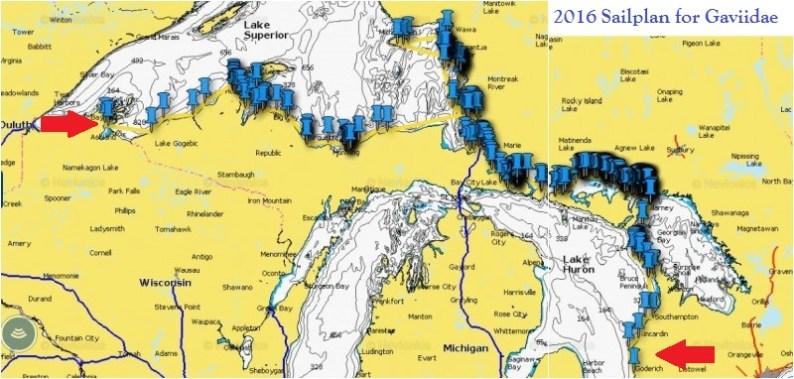 2016 Sail plan for Gaviidae